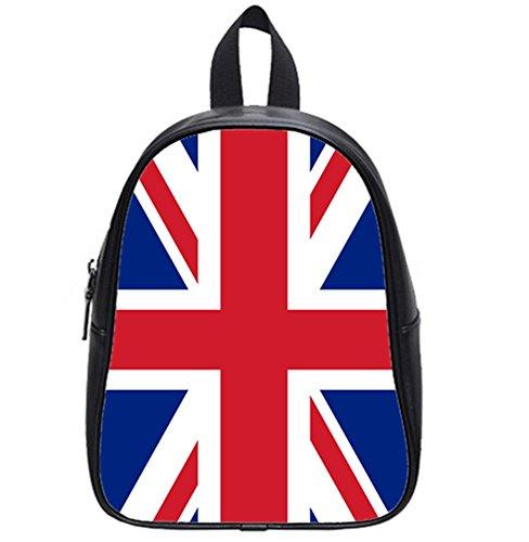 British Flag Pattern Soft PU Backpack School Bag Travel Bag