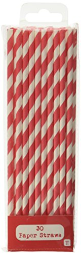 Talking Tables Mix and Match Disposable Drinking Straws (30 Pack), Red]()