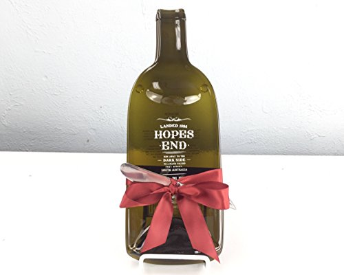 Spreader End - Hopes End Melted Red Wine Bottle Serving Tray with Cheese Spreader