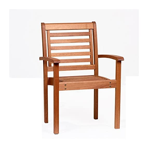 Amazonia Stackable Eucalyptus Chair - Amazonia Eucalyptus Collection Armchair Dimensions: 20Lx24.5Wx35H. Armchair Seat Dimensions: 17Dx20Wx17H. High Quality Eucalyptus Wood (Eucalyptus Grandis) - patio-furniture, patio-chairs, patio - 41tn3IoK%2BgL. SS570  -