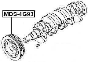 Febest Crankshaft Pulley Engine 4G93 For Mitsubishi Md350781