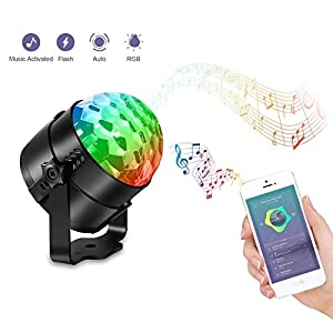 41tn43f%2BuhL. SS300  - Discokugel-LED-Karrong-Kinder-USB-Discolicht-Partylicht-Disco-Licht-Lichteffekte-7-Farbe-Musikgesteuert-DJ-Licht-Partybeleuchtung-Party-Lampe-fr-Kinder-Kinderzimmer-Xmas-Party-Geburtstag-Dekoration