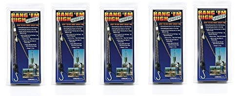 Rope Ratchet Hang 'em High Rope Hoisting, Hanging Feeder Pulley System - Block and Tackle Rope Hoist, 20-feet Solid Braided Rope & 250lbs Weight Capacity (5-(Pack))
