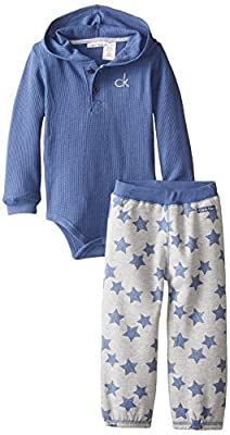 Calvin Klein Baby Boys' Blue Bodysuit with Printed Pants