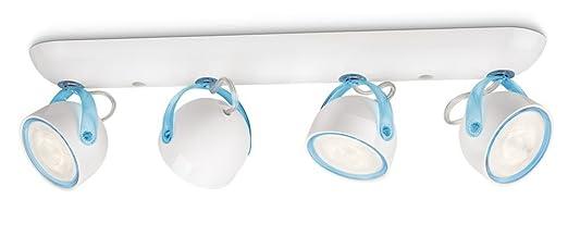38 opinioni per Philips 532343516 Dyna Lampada con 4 Faretti a LED, Blu