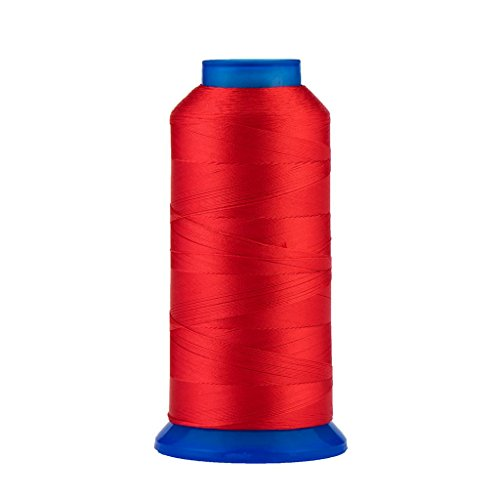 Selric [1500Yards / 130g / 30 Colors Available] UV Resistant High Strength Polyester Thread #69 T70 Size 210D/3 for Upholstery, Outdoor Market, Drapery, Beading, Purses, Leather (Red) ()