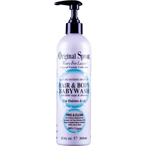 Original Sprout Hair and Body Baby Wash. Organic Vegan Baby Shampoo and Body Wash for Sensitive Skin. 12 oz.