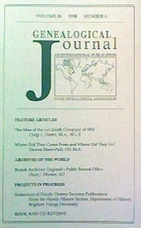 Genealogical Journal (Volume 26, Number 4)