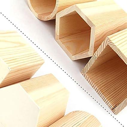 /Portal/ápices madera porte-stylo//–/Caja de almacenaje para casa escritorio 9.5 * 4 * 4CM Hexagone fablcrew 1pcs/