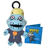 Teddy Scares Monster Mouth plush keychain - Tofu the Vegan Zombie