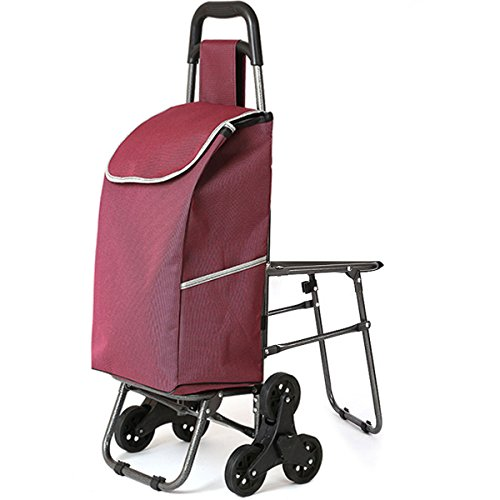 Price comparison product image Stainless steel folding trolley large capacity waterproof bag shopping portable car travel storage bag - folding trolley