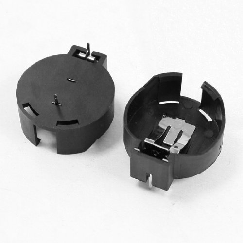 uxcell 2 Pcs CR2477 Lithium Coin Cell Button Battery Holder Socket Black