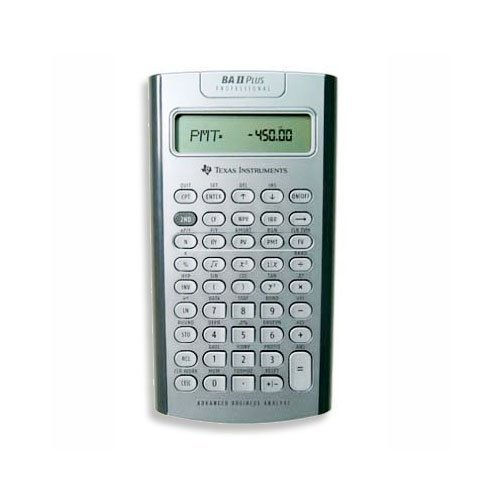 TEXAS INSTRUMENTS, TI BA II+ Professional Financial Calculator grey/black (Catalog Category: Calculators Business & Finance)