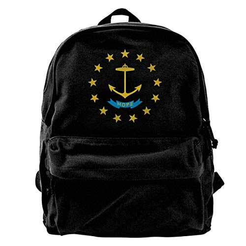 Ndiana, Rhode Island and Wyoming Canvas Backpack for Men Women Lightweight Travel Backpack College Student Bookbags Laptop Backpack