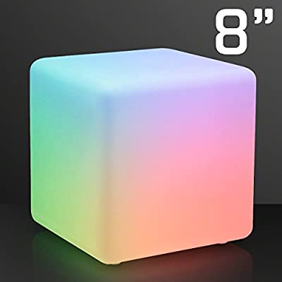 """8"""" Deco Cube, Color Change LEDs & Battery Operated"""