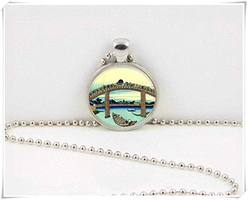 - Leonid Meteor Shower Japan Tokyo Scene Vintage Print Art Pendant,necklace pure handmade