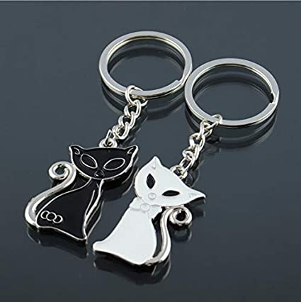 Amazon.com: HeroStore Hot Cute Couple Cat Keychain for ...