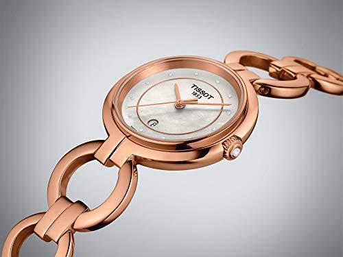 [해외] Tissot Flamingo Ladies Watch로즈 골드 다이아몬드모의 펄t094.210.33.116.01