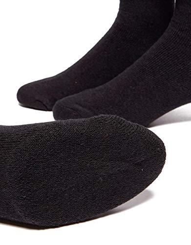 Calcetines Calcetines 6 Con Paquete Felpa Unisex Logotipo 3 Negro Federal 2x Fila Pares De Tenis xAI4xEw