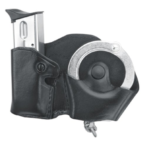 Magazine Case Belt - Gould & Goodrich B841-4 Gold Line Cuff And Mag Case With Belt Loops (Black) Fits BERETTA Cougar (all); GLOCK 17, 19, 20, 21, 22, 23, 26, 27, 29, 30, 31, 32, 33, 34, 35, 36, 39; H&K USP 9, .357,.40,.45 (all); KIMBER Polymer;  PARA-ORDNANCE P10, P12, P13, P14, P15, P16 (all); S&W Sigma (all EXCEPT .380), SW M&P .45; Springfield XD4, .40, .45, .357