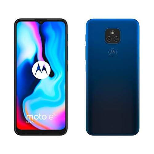 chollos oferta descuentos barato Motorola Moto E7 Plus 6 5 Max Vision HD Qualcomm Snapdragon 460 48MP sistema de doble cámara 5000 mAH de batería Dual SIM 4 64GB Android 10 Color Azul Versión ES PT