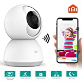 WiFi IP Camera Outdoor,Wireless Surveillance Camera,1080P HD Night Vision Waterproof Bullet Cameras with 16GB Micro TF,Motion Detection IP Cameras for Indoor Outdoor,Remote Access with APP ANRAN