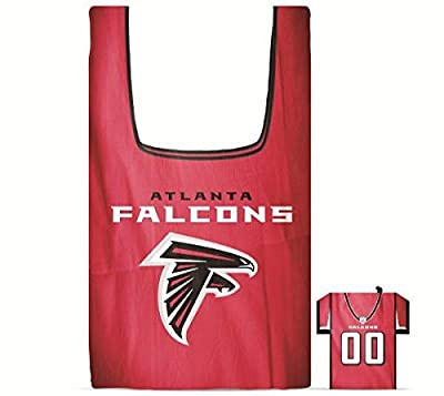NFL Atlanta Falcons Eco Friendly Reusable Grocery Bag with Jersey Style Storage Pouch
