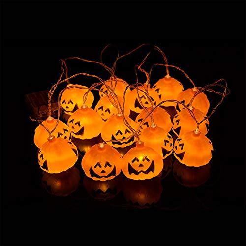 Chutoral Halloween 3D Pumpkin/Skull Bone 118 inch 16LED String Lights Waterproof Cute Halloween Decorations Home -