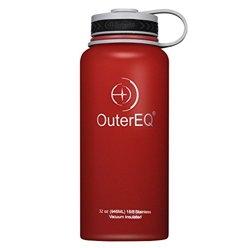 OuterEQ Insulated Stainless Steel 32 oz Water Bottle