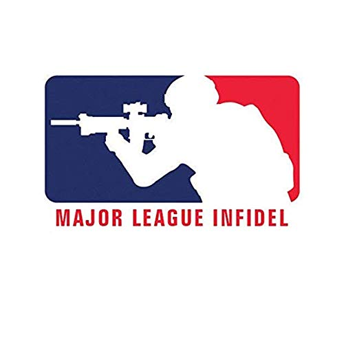 Major League Infidel MLI - 4.5 Inch Graphic Sticker for Water Bottles Cars Motorcycle Skateboard Portable Luggages Phone Ipad Laptops