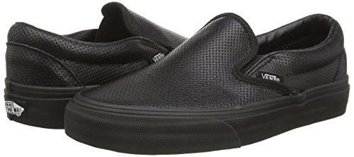 Black Vans da Scarpe on Nero Perf Ginnastica Slip Black Classic Unisex Adulto Basse Leather w7wZq6Ug