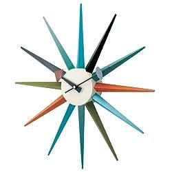 George Nelson Multi-Color 18.5 in. Sunburst Wall Clock