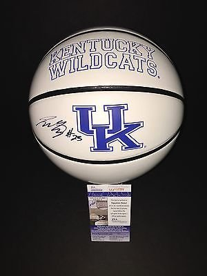 Jamal Murray Autographed Signed Kentucky Wildcats Logo Basketball JSA COA 4