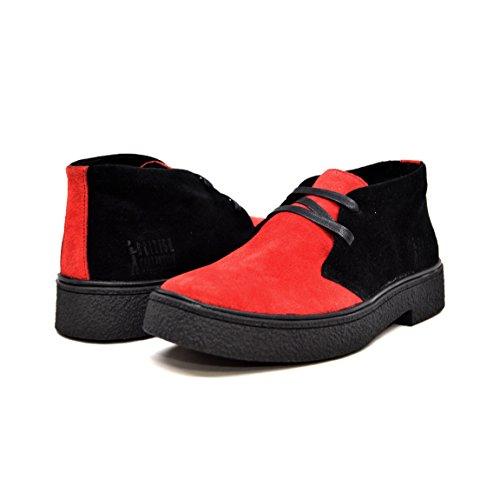 British Walkers Men's Playboy High top Chukka Boot Trinidad Black/Red 11