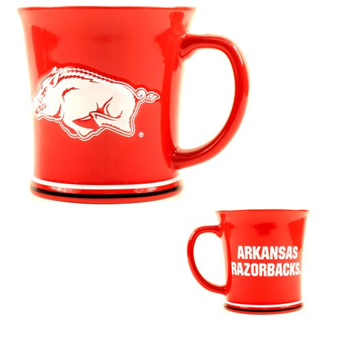 NCAA Arkansas Razorbacks 15 oz Sculpted Ceramic Coffee Mug ()