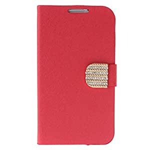 Silk Print and Gold Button Painting Pattern Rhinestone Protective Pouches for Samsung Galaxy Note N7100 --- COLOR:Black