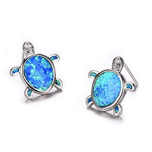 a Turtle Stud Earrings Birthstone Jewelry Birthday for Her (Earrings-2) ()