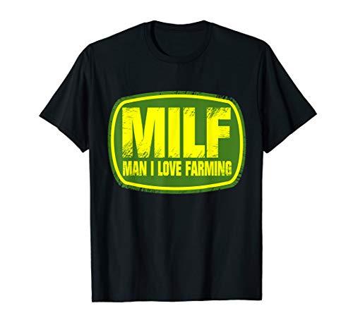 MILF Man I Love Farming Funny Farmer T Shirt Gift