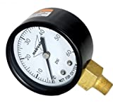American Granby IPG6028L 2'' Dial 0-60# Steel Case Lower Pressure Guage IPG602-8L