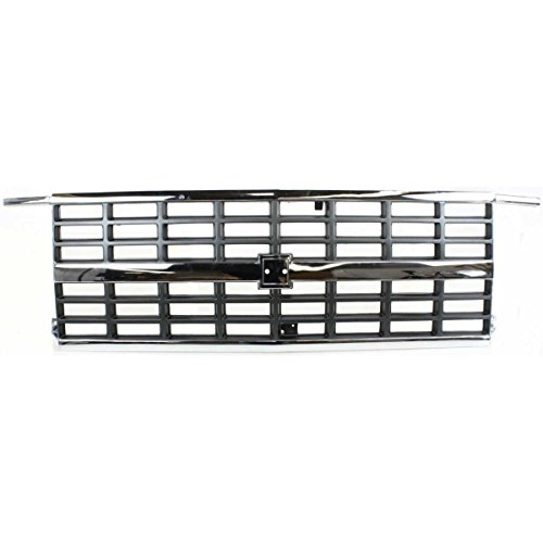 New Grille For 1992-1996 Chevrolet Van Chevy Fullsize Chrome/Silver, With Dual Rectangular Head Lights, Chevy Only GM1200241 15667812