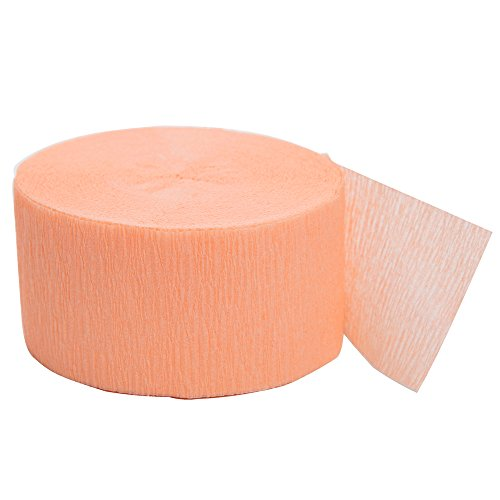 81ft Coral Crepe Paper Streamers -