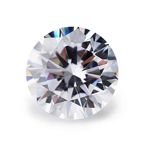 (D Color (Colorless) Top Grade Loose Round Brilliant Cut White Lab Created Moissanite Stone (5.0mm))