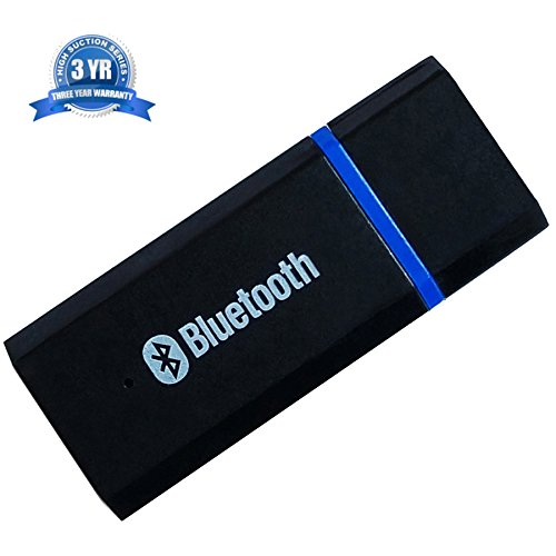 USB Bluetooth Receiver Adapter CHENJINWD Wireless Audio Mini For Car,Home,Headphones,Pc Stereo Music Receiver 3.5mm Audio Data line Blue Black