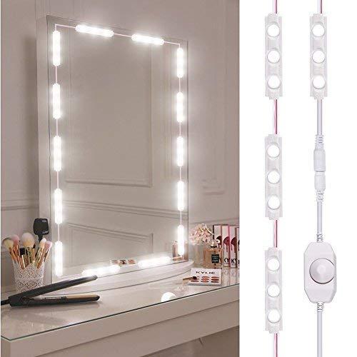 Viugreum Luces LED de Espejo,Luces de camerino,DIY L/ámpara para Espejo de maquillaje Luces Modulos Para espejo,armario,estanter/ía,tocador,60 Bombillas LED