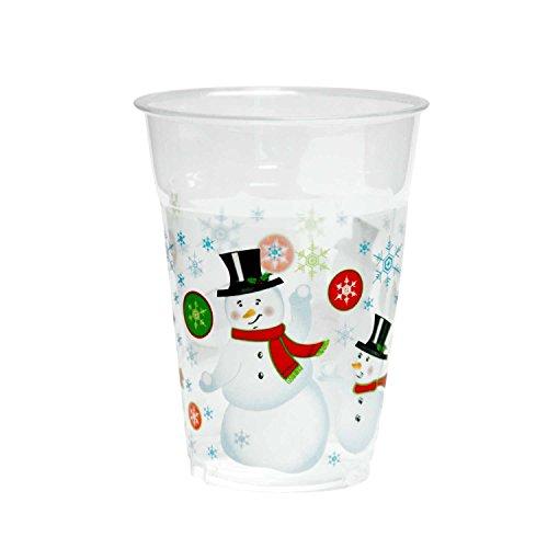 (KOVOT 50 Count 16-Ounce Plastic Cups (Snowman))