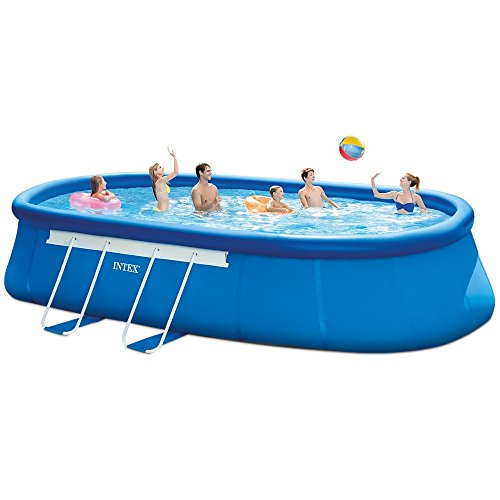intex oval frame pool set 20 feet by 12 feet by 48 inch buy online in uae lawn patio. Black Bedroom Furniture Sets. Home Design Ideas