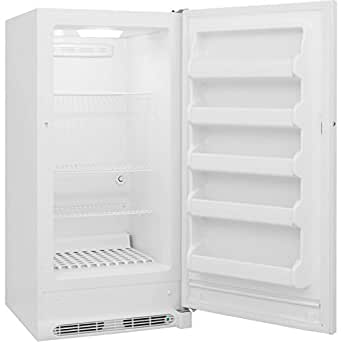 """Frigidaire FFFU14F2QW 30"""" Upright Freezer with 13.8 cu. ft. Capacity Power-On Indicator Light Adjustable Temperature Control Bright LED Lighting Frost-Free Operation and Lock with Pop-Out Key in"""