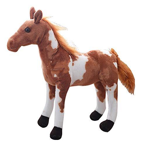 (Levenkeness Horse Stuffed Animal Toy,Simulation Horses Plush Pony Doll for Kids Birthday Gift Home Decor 15.7 inch,Paint Horse)