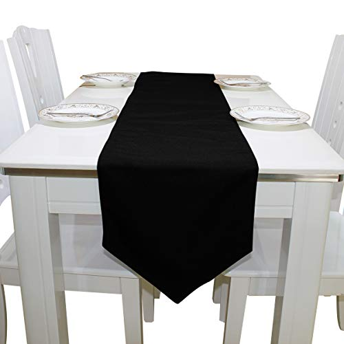 Table Linens Abstract Piano Music Note Black Modern Table Runner Traditional Table Cloths for Kitchen Outdoor Restaurant Wedding Place Mats Table Overlays 13x90 Inch