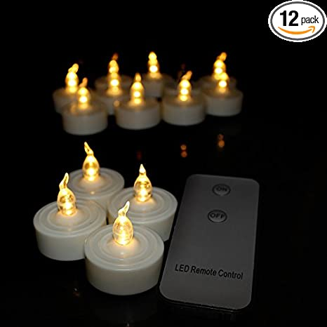 remote control flameless led tea light candles realistic flickering battery operated candle tealights for wedding party